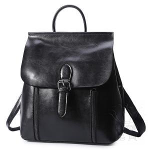 カバン 鞄 本革 ショルダーバック バックパック リュックバック レトロ風 4色展開 ipad/mini 対応 2WAY ベルト飾り 通勤 通学 旅行 肩掛け|fuki-fashion