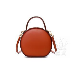 カバン 鞄 本革 ショルダーバック  ラウンドバッグ ミニバック 2WAY 無地 手持ち 小さめ 肩掛け 通勤 二次会 オシャレ 軽量|fuki-fashion