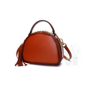 カバン 鞄 本革 ショルダーバック  ラウンドバッグ ミニバック 無地 収納たっぷり 2WAY 手持ち 肩掛け 通勤 二次会 オシャレ カジュアル|fuki-fashion