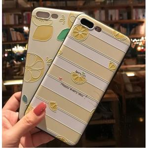 iPhoneケース アイフォン8ケース アイフォン8PLUS アイフォンX アイフォン7 アイフォン7PLUS かわいい ジャケット プリント 浮き彫り フルーツ|fuki-fashion