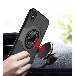 iPhoneケース アイフォン8ケース アイフォン8PLUS アイフォンX アイフォン7 アイフォン7PLUS バンパー 無地 視聴スタンド リング付き 車載ホルダー|fuki-fashion