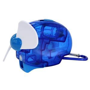 気化熱を利用した霧吹き機能付携帯型扇風機 カラビナ付で携帯に便利なミストファン  即納 携帯扇風機 ...