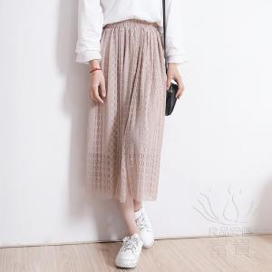 FLZ ロングスカート Aラインスカート レース 通勤 モダン カジュアル おしゃれ 春|fuki-fashion