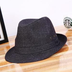中折帽子 メンズ 春夏秋 紫外線対策 北欧風 レトロ 紳士 リベット飾り 通気孔付き 通気性良い チェック柄 枠柄 ジャカード カジュアル fuki-fashion