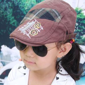 キッズ 春 秋 カジュアル ハンチング、ハンティングキャップ 子供の帽子、新しいキャップ、夏の太陽のキャップ、古い帽子を作るためのステッチ、キャップを fuki-fashion