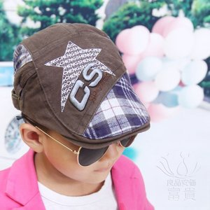 キッズ 春 秋 カジュアル ベースボールキャップ 子供用帽子、新しい子供用帽子、新しい帽子、韓国のベレー、ファッションベレー fuki-fashion
