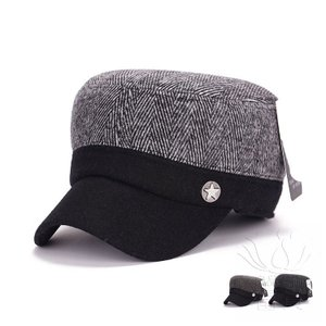 ジェーンユエチー冬肥厚ぬいぐるみステッチウールミリタリーキャップ冬ミドルとオールドエイジコールドメンズ帽子卸売|fuki-fashion