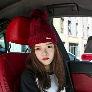イヤープロテクターニットウールの帽子の女性の冬のファッション綿の帽子の潮韓国語のバージョン百を厚くする防風暖かいヘアボール卸売|fuki-fashion
