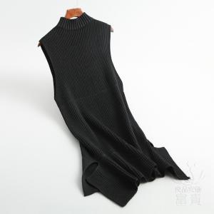 ニット セーター スカート レディース ノースリーブ ジャンバー リブニット ワンピース 通勤 フェミニン 体型カバー おしゃれ|fuki-fashion
