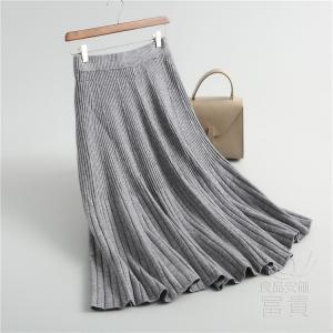 ニット セーター スカート レディース マキシ プリーツ カジュアル フェミニン 暖かい ゆったり おしゃれ|fuki-fashion