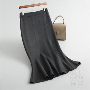 ニット セーター スカート レディース ミモレ 無地 スポーティー フェミニン 暖かい ゆったり おしゃれ|fuki-fashion