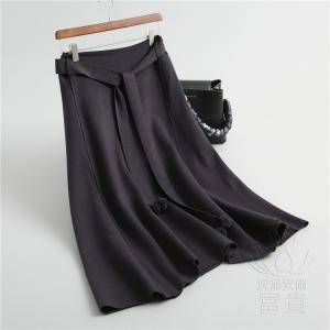 ニット セーター スカート レディース マキシ 無地 スポーティー 通勤 春秋 ゆったり おしゃれ|fuki-fashion