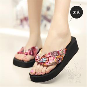 サンダル トング・サンダル 花柄  靴 ビーチ・サンダル 厚底 ボヘミアン オシャレ 軽い ビーサン  歩きやすい 痛くない  履きやすい レジャー用|fuki-fashion