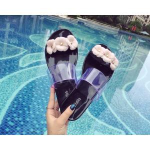 サンダル ビーチ・サンダル 花飾り 靴 美脚 可愛い 痛くない 履きやすい オシャレ レジャー用 軽量 通気性 滑り止め ピンク ビーサン|fuki-fashion