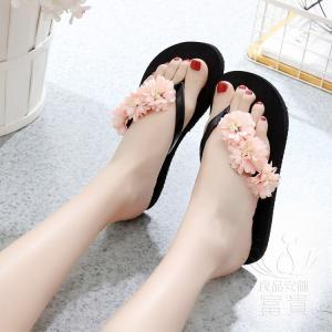 サンダル トング・サンダル ビーチサンダル 靴 花飾り 軽量 履きやすい フラット ビーサン  水陸両用 可愛い 美脚 痛くない 通気性 滑り止め オシャレ|fuki-fashion