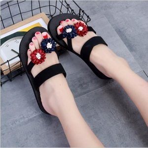 サンダル トング・サンダル ビーチサンダル 靴 花飾り 軽量 履きやすい フラット ビーサン  オシャレ 水陸両用 可愛い 美脚 痛くない 通気性 滑り止め|fuki-fashion