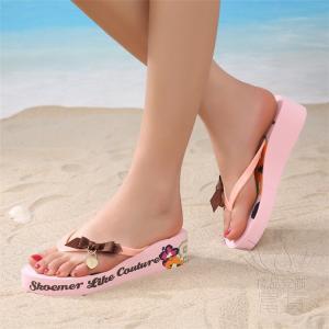サンダル トング・サンダル ビーチサンダル 靴 厚底 花柄 リボン 可愛い 履きやすい 歩きやすい ビーサン  滑り止め 新作 ピンク 痛くない 夏|fuki-fashion