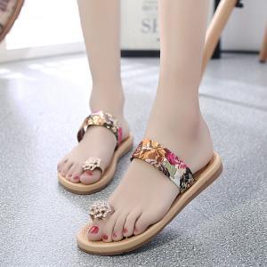 サンダル サムループ・サンダル  ビーチサンダル 靴 花柄 玉模様 履きやすい オシャレ 滑り止め 痛くない 歩きやすい ビーサン  履き心地  疲れない 通気性|fuki-fashion