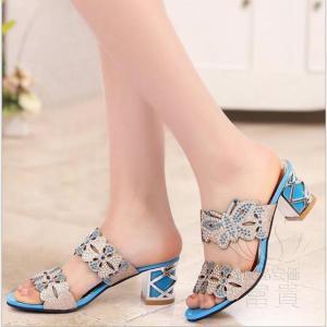 サンダル ヘップ・サンダル ミュール 靴 パンプス ミディアムヒール 太ヒール 軽い 歩きやすい キラキラ オフィス 滑り止め 履き心地  痛くない|fuki-fashion