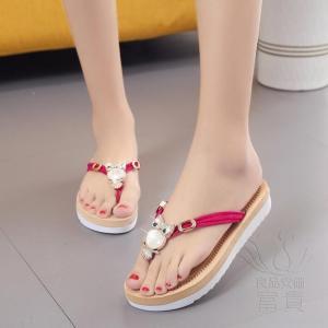 サンダル トング・サンダル フクロウ 靴 厚底 オシャレ キラキラ ローヒール 歩きやすい 通気性 軽い レジャー 高級感 オフィス 美脚 水陸両用 履きやすい|fuki-fashion