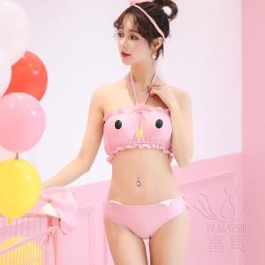 レディース水着 ビキニ2点セット セパレート フリル ビスチェ風 ホルタートップ 無地 可愛い 萌え cosplay コスプレ 温泉  人気 おすすめ|fuki-fashion