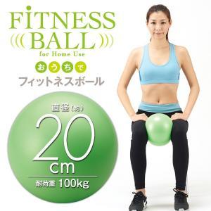 おうちでフィットネスボール 20cm 自宅 エクササイズ 運動 ストレッチ 体幹 fuku-kitaru