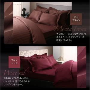 9色から選べる ホテルスタイル ストライプサテンカバーリング ベッド用ボックスシーツ シングル 40701609 fuku-kitaru 17