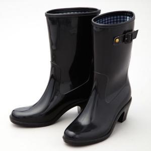 脚長ファッションレインブーツ ミドル丈 おしゃれ 長靴 雨 ヒール fuku-kitaru 02
