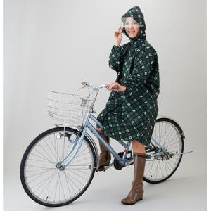 英国調チェックレインポンチョ レディース はっ水 雨 レインコート/ネコポス可(送料240円)1配送につき1点まで/コンパクト 自転車 かっぱ|fuku-kitaru|04