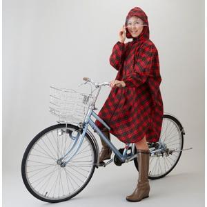 英国調チェックレインポンチョ レディース はっ水 雨 レインコート/ネコポス可(送料240円)1配送につき1点まで/コンパクト 自転車 かっぱ|fuku-kitaru|05
