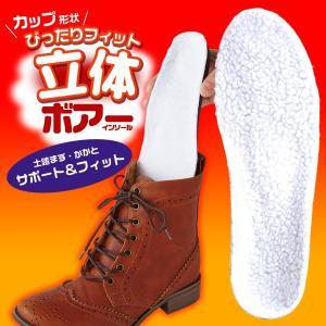 Is-fit 立体ボアインソール 女性用 暖かい 防寒 ボア 土踏まず かかとサポート|fuku-kitaru