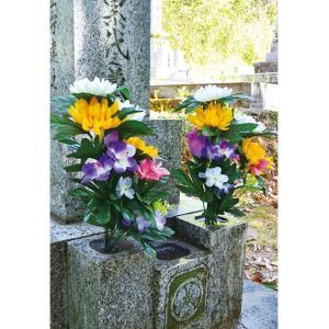 お墓・仏壇用 お供え花 2束入り 造花 仏花 ...の詳細画像2