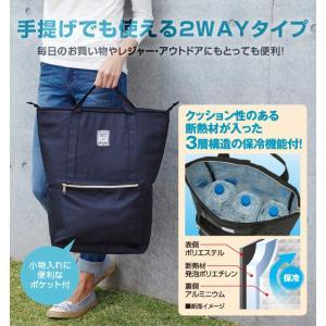 保冷リュック 2way ファスナー式 アウトドア 買い物 手提げ 保冷バッグ リュックサック エコバッグ おしゃれ 大容量 ペットボトル|fuku-kitaru|02