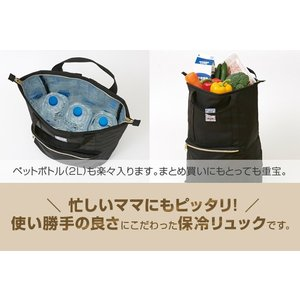 保冷リュック 2way ファスナー式 アウトドア 買い物 手提げ 保冷バッグ リュックサック エコバッグ おしゃれ 大容量 ペットボトル|fuku-kitaru|05
