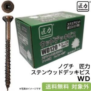 ノグチ 匠力 ステンウッドデッキビス WD75 (5.5×75mm) フレキ SUS304 (100本入り) fukucom
