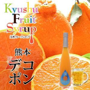 ノンアルコール ノンアルドリンク 九州果実シロップ デコポン3倍希釈 はちみつ入り 500ml|fukuda-farm