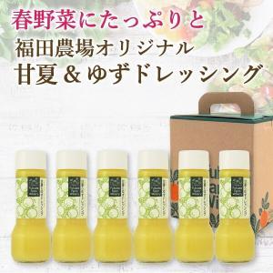 ドレッシング ゆず 甘夏 200ml 6本 セット 熊本 九州 サラダ 春野菜|fukuda-farm