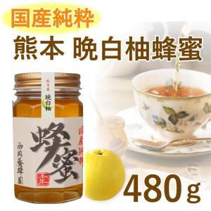 はちみつ 国産 純粋 100% 熊本 晩白柚(バンペイユ) みかん 480g 甘味料 パンケーキ 紅茶|fukuda-farm