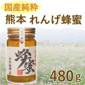 はちみつ 国産 純粋 100% 熊本 レンゲ 480g 甘味料 パンケーキ 紅茶|fukuda-farm