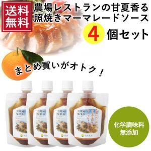 熊本発 簡単料理たれ 甘夏マーマレード照り焼き調味料150g 4袋セット 送料無料 |fukuda-farm