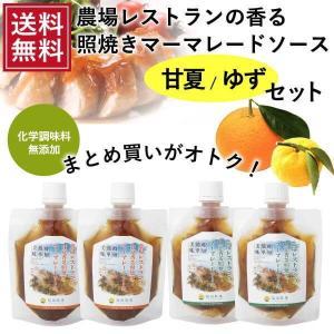 送料無料 熊本発 簡単料理たれ 甘夏ゆず マーマレード 照り焼き 調味料 150g4 袋セット|fukuda-farm
