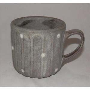 小石原焼 翁明窯 マグカップ しのぎドットマット 1個|fukudasaketen