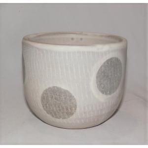 小石原焼 翁明窯 ゆのみ 水玉マット 1個|fukudasaketen