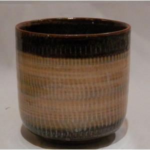 小石原焼 翁明窯 湯呑 大 ツートン白釉 1個|fukudasaketen