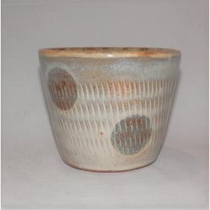 小石原焼 翁明窯 そばちょこ 水玉白釉(はくゆう) 1個|fukudasaketen