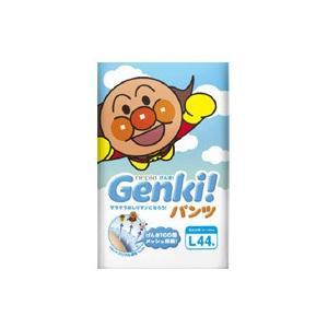 ネピア GENKI(ゲンキ) フィットするのにふわふわ通気 パンツ Lサイズ 44枚  fukuei