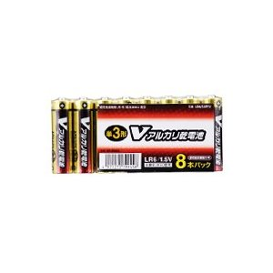 オーム Vアルカリ電池 単3×8本入り |fukuei