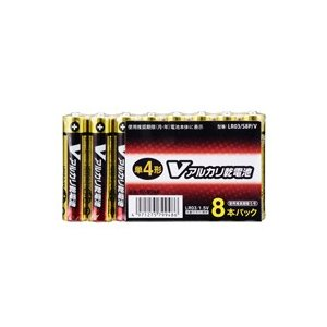 オーム Vアルカリ電池 単4×8本入り |fukuei
