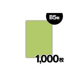在庫処分 紀州 色上質紙 うぐいす 特厚口 110kg B5 1000枚|fukuei