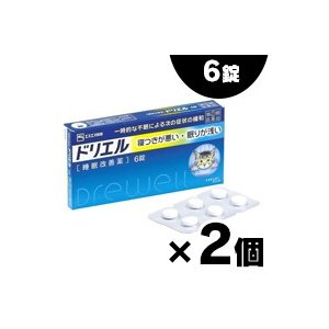 (メール便送料無料)エスエス製薬 ドリエル 6錠×2個セット (第(2)類医薬品)|fukuei